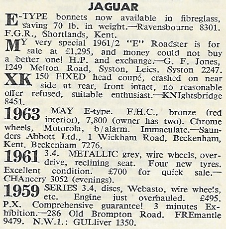 AutoSport Oct 1964 Classifieds
